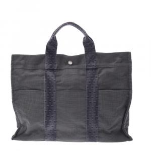 Hermes Grey Canvas Herline GM Bag