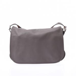 Hermes Grey Clemence Leather Barda 35 Bag