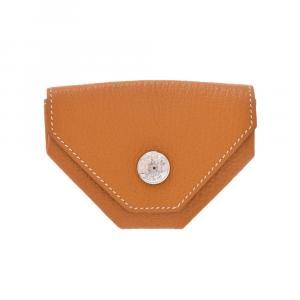 Hermes Brown Leather Revan Cattle Wallet