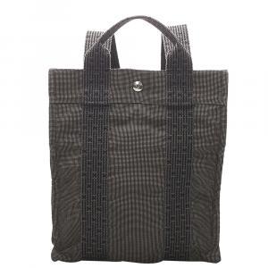 Hermes Grey Herline Canvas PM Backpack