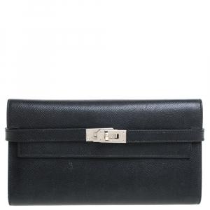 Hermes Black Epsom Leather Kelly Wallet