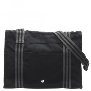 Hermes Black Fourre Tout Besace MM Bag