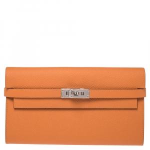 Hermes Feu Epsom Leather Kelly Wallet