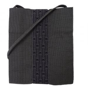 Hermes Grey Canvas Herline Pochette Shoulder Bag