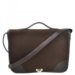 Hermes Brown Togo Leather Victoria II Messenger Bag