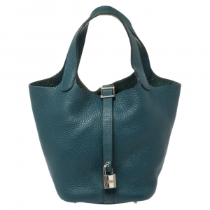 Hermes Colvert Clemence Leather Picotin PM Bag