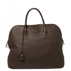 Hermes Brulee Togo Leather Bolide 45 Bag