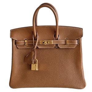 Hermès Gold Veau Togo Birkin 25 Bag