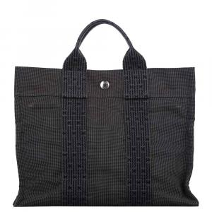 Hermes Grey Canvas Fourre Tout Tote Bag