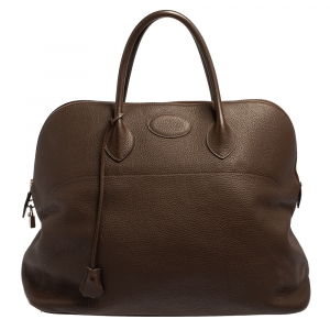 Hermès Cacao Togo Leather Bolide 45 Bag