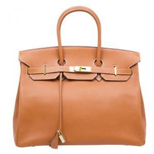 Hermes Brown Epsom Leather Gold Hardware Birkin 35