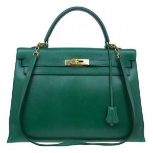 Hermes Vintage Emerald Green Kelly 36