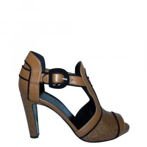 Hermes Brown Leather Sandals Size 36 - used