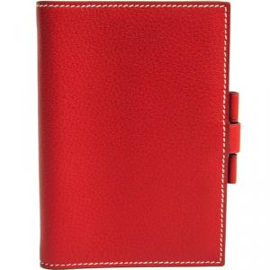 Hermes Red Chevre Mysore Leather Planner Cover