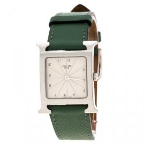 ساعة يد نسائية هيرمس هور HH1.510 ستانلس ستيل لؤلؤ بيضاء 26 مم