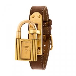 ساعة يد نسائية هيرمس كيلي KE1.201 مطلي ذهب 20 مم