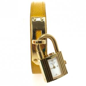 Hermes Kelly SS Leather Womens Wristwatch 20 MM