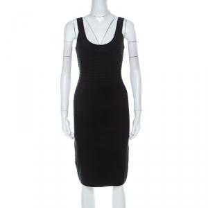 Herve Leger Black Sleeveless Sydney Signature Bandage Dress M
