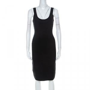 Herve Leger Black Sleeveless Lulu Bandage Dress S