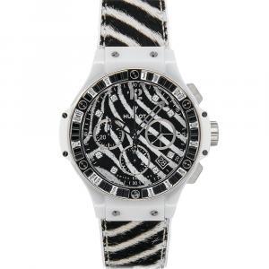 Hublot Black Ceramic Diamonds Big Bang Tutti Frutti Chronograph 341.HW.7517.VR.1975 Women's Wristwatch 41 MM