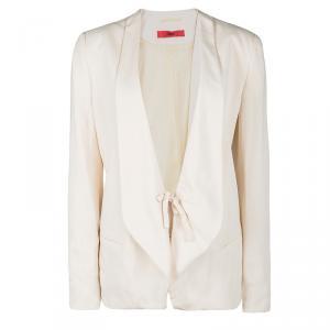 Hugo Boss Beige Front Tie Detail Anilli Blazer M