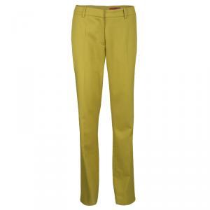 Hugo By Hugo Boss Yellow Wool Hinass Tailored Trousers M