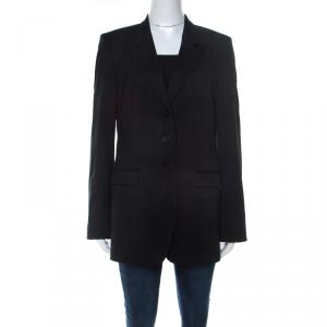 Hugo Boss Black Wool Pin Stripe Classic Tailored Blazer L