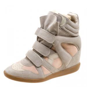 Isabel Marant Two Tone Bekett Wedge Sneakers Size 41