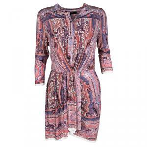 Isabel Marant Maryloe Mankolam Paisley Printed Jersey Mini Dress M