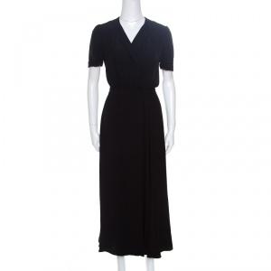 Isabel Marant Etoile Flore Black Wrap Maxi Dress M
