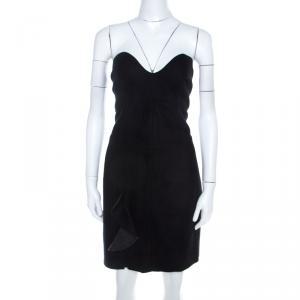 Isabel Marant Dark Grey Wool Ruffled Front Strapless Dress L - used