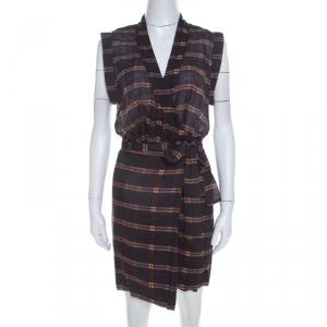 Isabel Marant Etoile Anthracite Grey Cotton Voile Varna Wrap Dress M - used