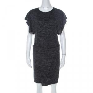 Isabel Marant Etoile Dark Grey Jersey Waist Tie Wrap Dress M - used
