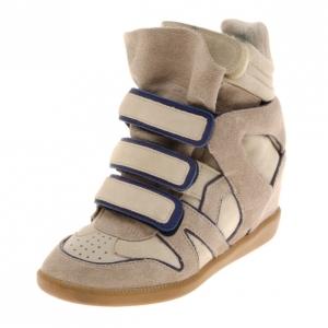 Isabel Marant Grey Bekett Wedge Sneakers Size 36