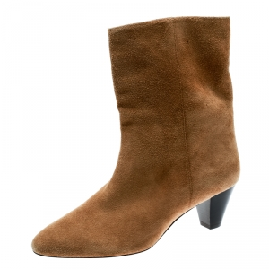 Isabel Marant Beige Suede Ankle Boots Size 40