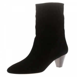 Isabel Marant Black Suede Ankle Boots Size 41
