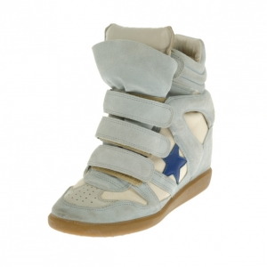 Isabel Marant Grey Bayley Star Wedge Sneakers Size 37