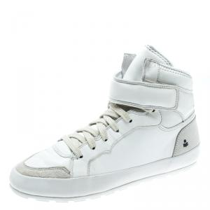 Isabel Marant White Leather And Suede Bessy High Top Sneakers Size 37