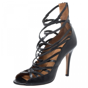 Isabel Marant Black Leather Paw Strappy Sandals Size 38 - used
