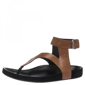 Isabel Marant Brown Leather Elwina Ankle Strap Sandals Size 41 - used