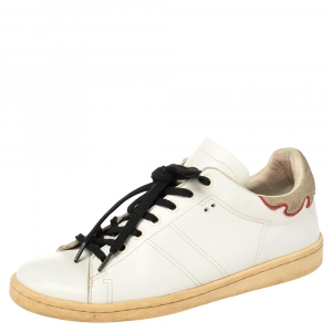 Isabel Marant White Leather Low Top Sneakers Size 38 - used