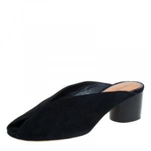 Isabel Marant Black Suede Meirid Slip On Sandals Size 36 - used