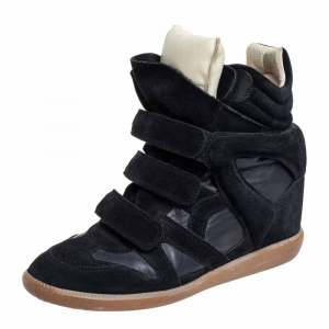 Isabel Marant Black Suede And Leather Bekett High Top Sneakers Size 41 - used