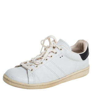 Isabel Marant White/Black Leather Sneakers Size 39 - used