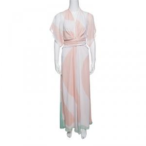 فستان ماكسي عيسى بوليانا شيفون مطبوع متعدد الألوان S