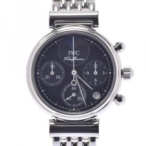 IWC Black Stainless Steel Little Da Vinci IW373614 Women's Wristwatch 28 MM