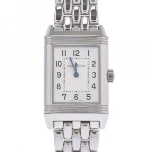 Jaeger Lecoultre Silver Stainless Steel Reverso Classic Women's Wristwatch 21 x 25 MM