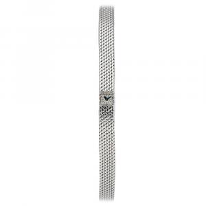 Jaeger-LeCoultre Silver 18K White Gold Lady Vintage Women's Wristwatch 8 x 15 MM