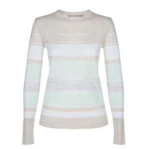 Jason Wu Striped Merino Wool Sweater M