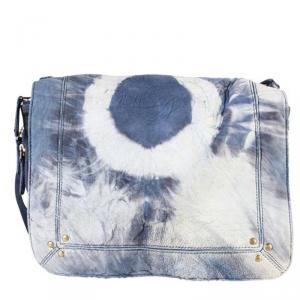 Jerome Dreyfuss Blue Igor Tie And Dye Shoulder Bag